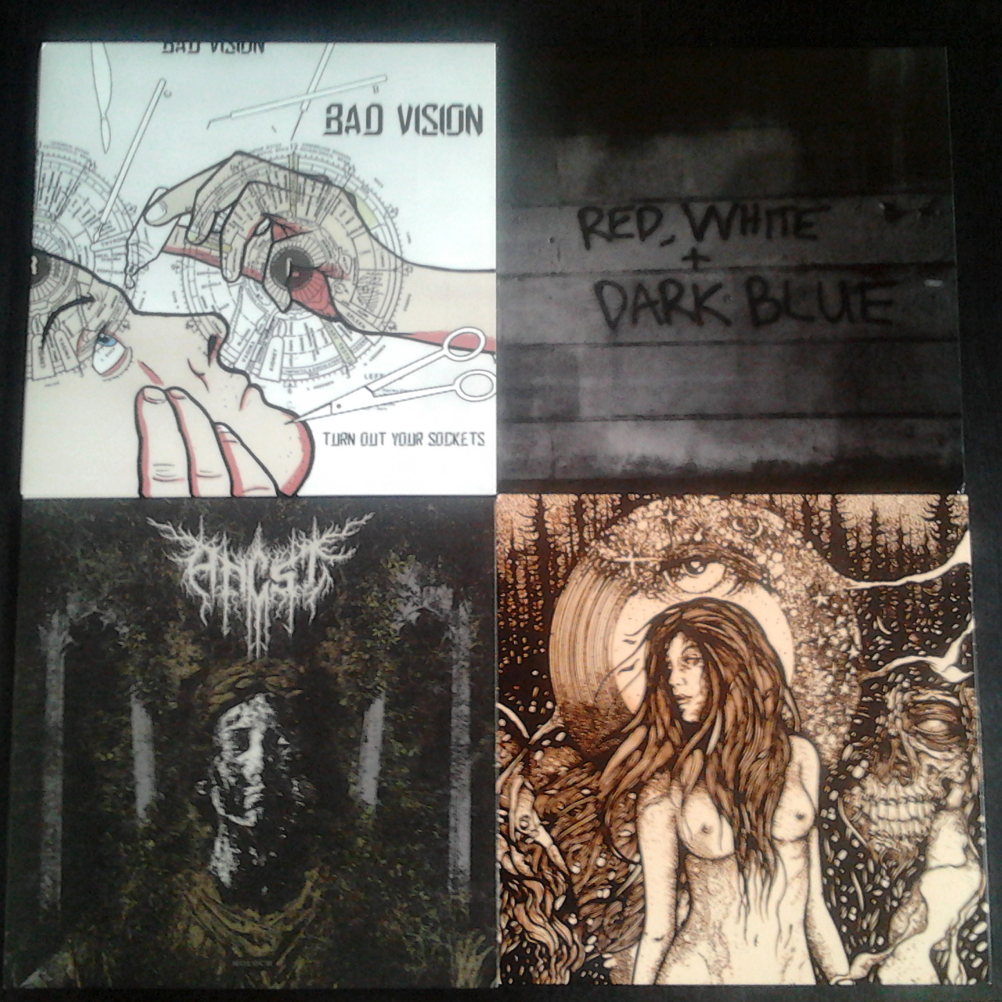 Records from Bad Vision, Totem Skin, Ancst and Dark Blue