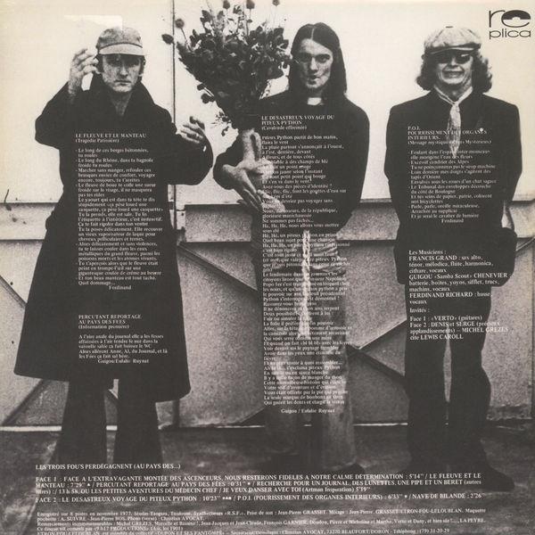 ETRON FOU LELOUBLAN Les Trois Fou's Perdégagnent (Au Pays Des...) LP