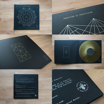 CREATION IS CRUCIFIXION Antenna Builder / Rerecorded Splits + Live In Geneva - Gold colored vinyl 2xLP