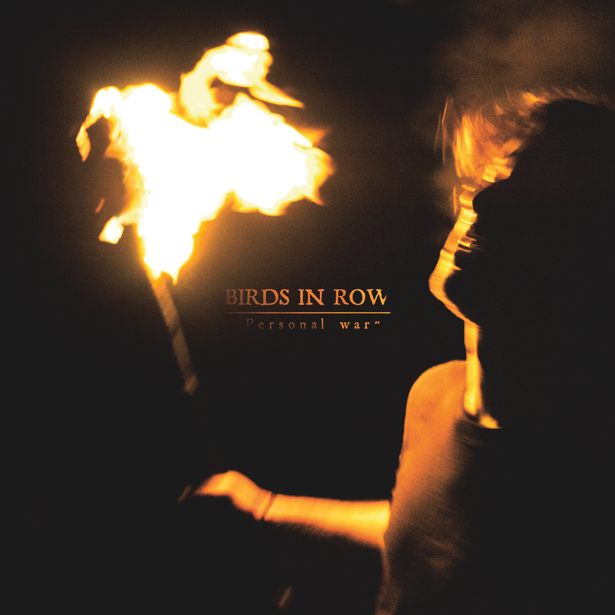 BIRDS IN ROW Personal War - Vinyl LP (transparent orange)