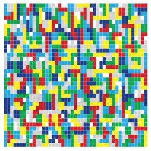 HOLLYWOODFUN DOWNSTAIRS Tetris - Vinyl LP (white)