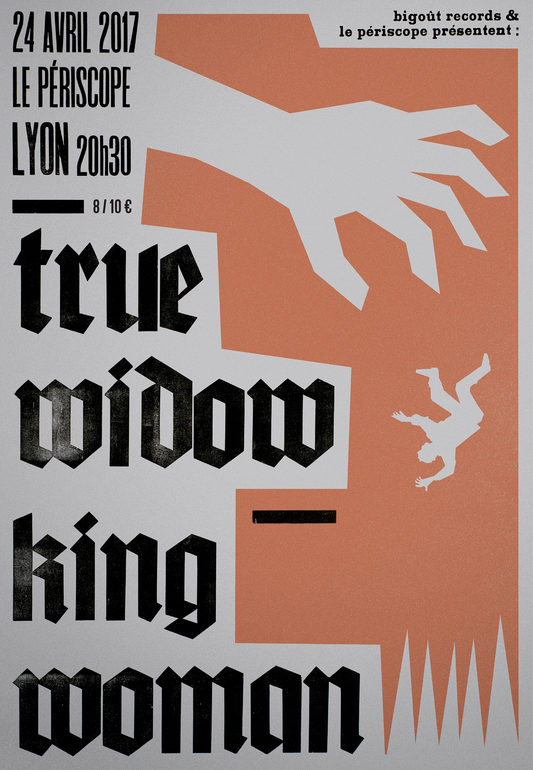TRUE WIDOW + KING WOMAN @ Lyon / Périscope, 24 avril 2017