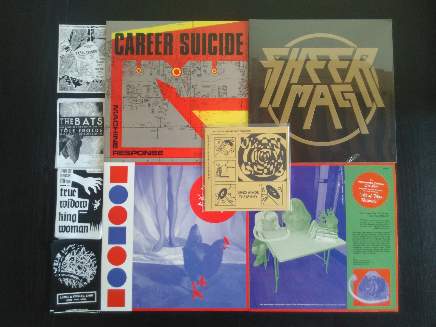 Static Shock vinyls : Career Suicide, Sheer Mag, Uranium Club