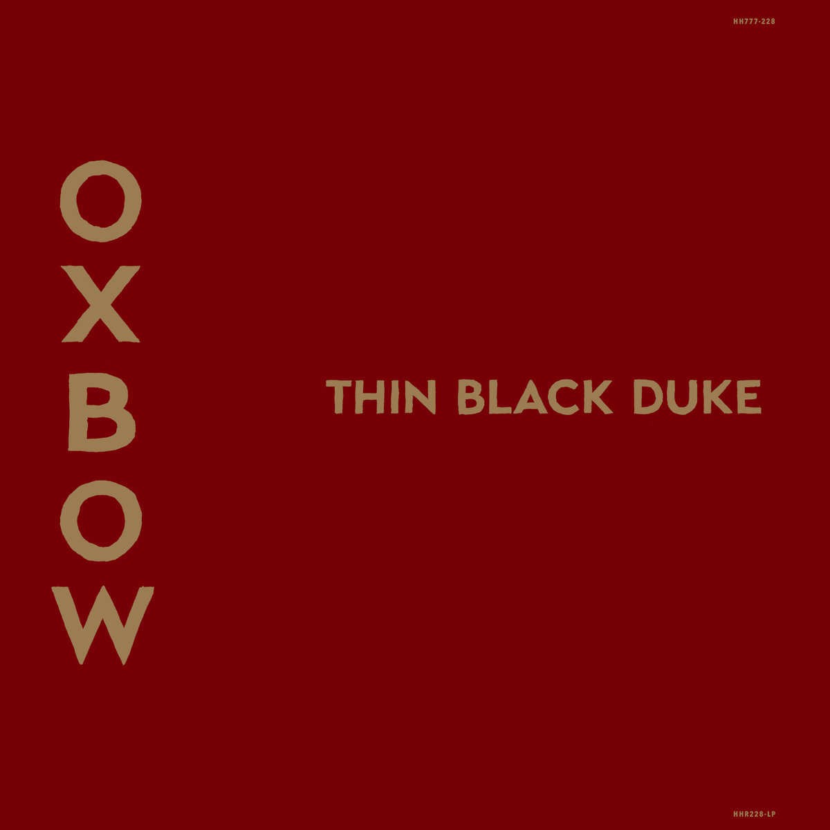 OXBOW Thin Black Duke – Vinyl LP (black)