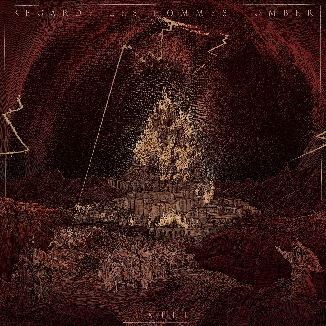 REGARDE LES HOMMES TOMBER Exile – Vinyl LP (transparent red)