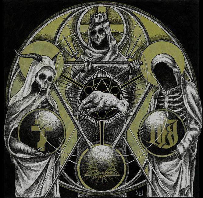 VI / TEMPLE OF BAAL / THE ORDER OF APOLLYN Split – Vinyl LP (red | black)