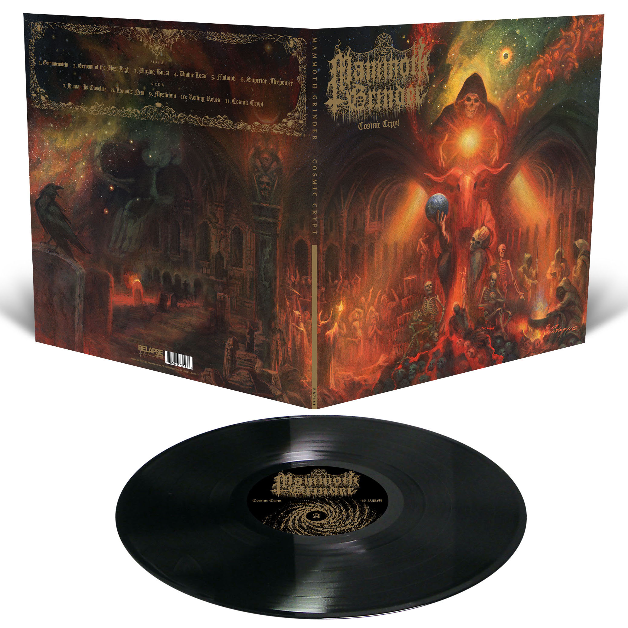 Mammoth Grinder Cosmic Crypt Vinyl Lp Black Bigo 251 T