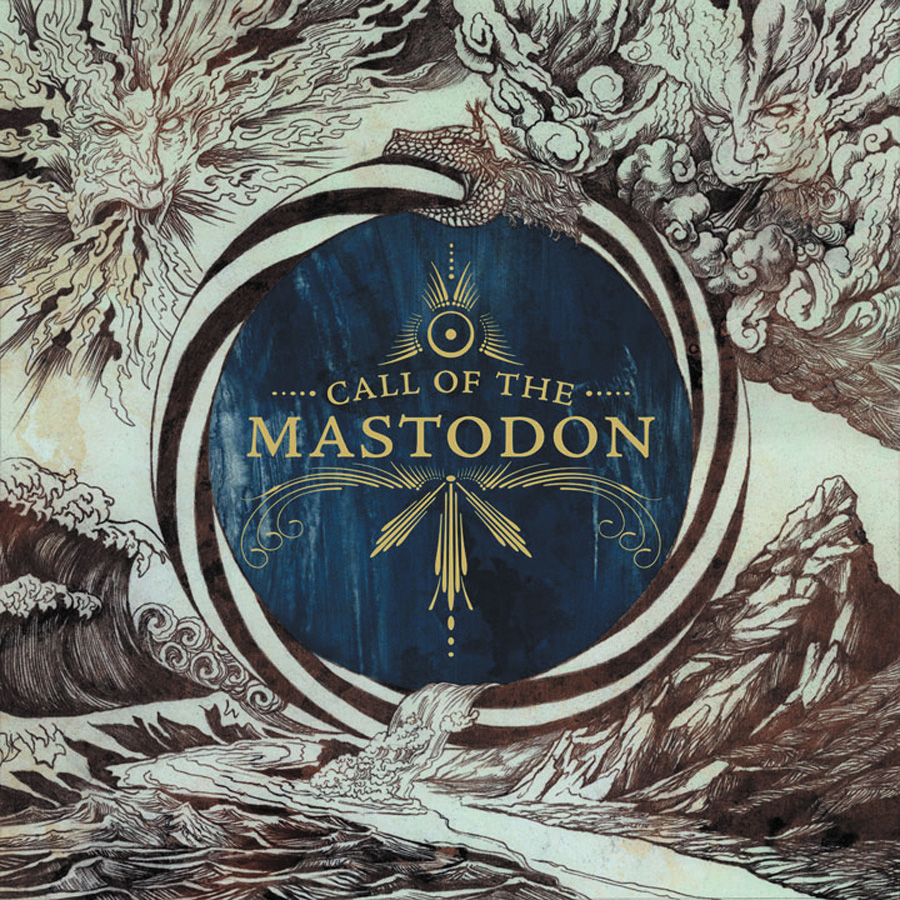 MASTODON Call The Mastodon – Vinyl LP (Gold Inside Clear with Blue and Silver Splatter)