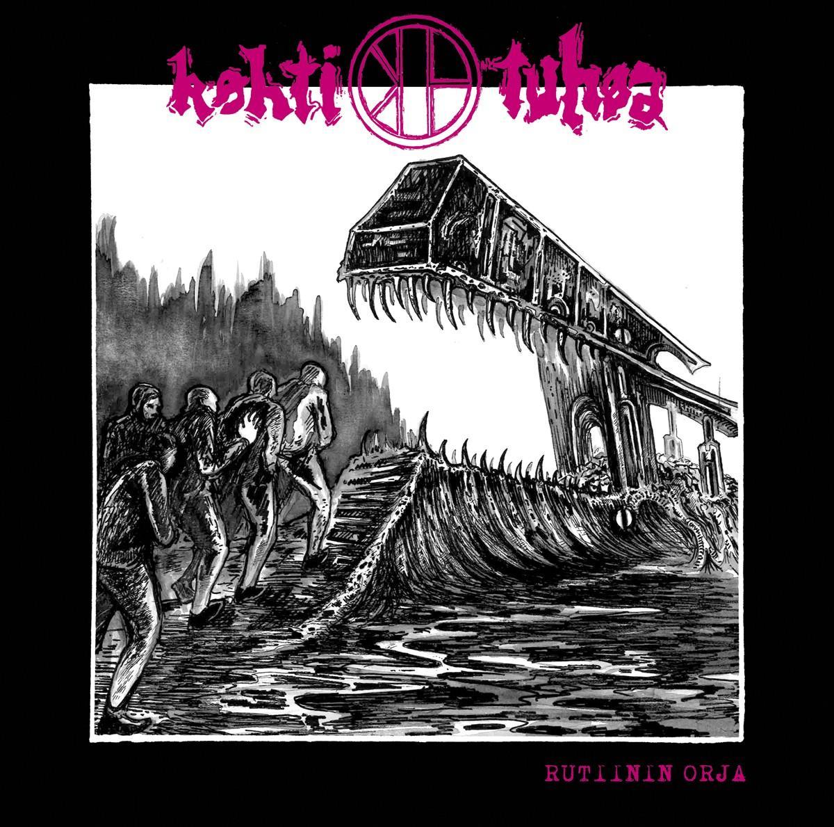 KOHTI TUHOA Rutiinin orja – Vinyl LP (black)