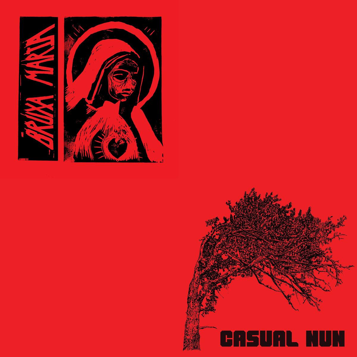 BRUXA MARIA / CASUAL NUN Split – Vinyl LP (black) * Pre-order