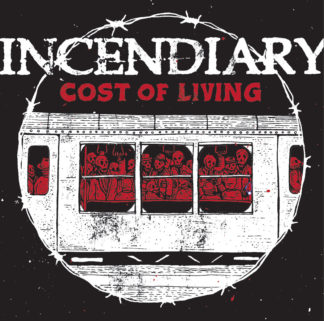 INCENDIARY Cost Of Living - Vinyl LP (clear w/ red, black, white splatter)