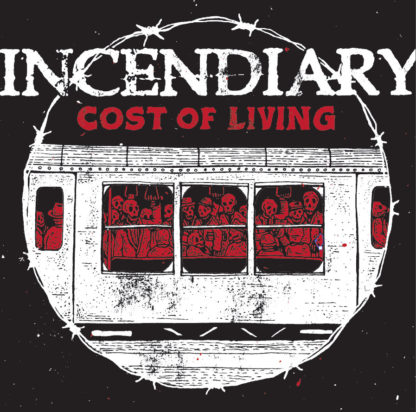 INCENDIARY Cost Of Living - Vinyl LP (black white mix)