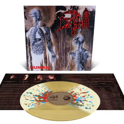 DEATH Human - Vinyl LP (Translucent Gold with Bone White Butterfly Wings and Aqua Blue, Red and Brown Splatter)