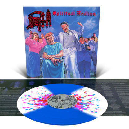 DEATH Spiritual Healing - Vinyl LP (Royal Blue with White Butterfly Wings and Neon Pink, Red and Cyan Blue Splatter)