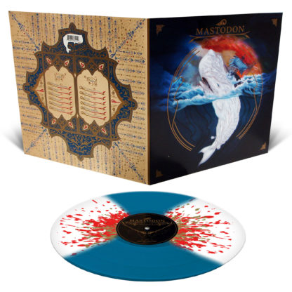 MASTODON Leviathan - Vinyl LP (Sea Blue with White Butterfly Wings and Metallic Gold and Blood Red Splatter)