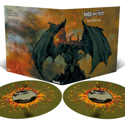 HIGH ON FIRE Blessed Black Wings - Vinyl 2xLP (swamp green splatter)