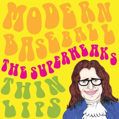"""MODERN BASEBALL THE SUPERWEAKS THIN LIPS Split - Vinyl 7"""" (black)"""