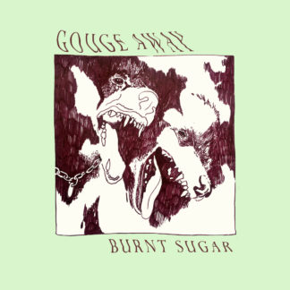 GOUGE AWAY Burnt Sugar – Vinyl LP (electric blue / oxblood split)