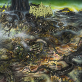 CEREBRAL ROT Odious Descent Into Decay - Vinyl LP (neon yellow, piss yellow merge with olive green, brown, bone splatter)