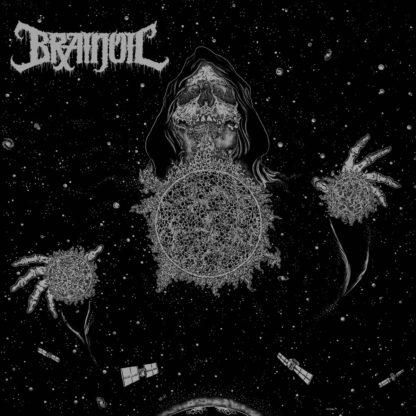 BRAINOIL Singularity To Extinction - Vinyl LP (half silver half black)