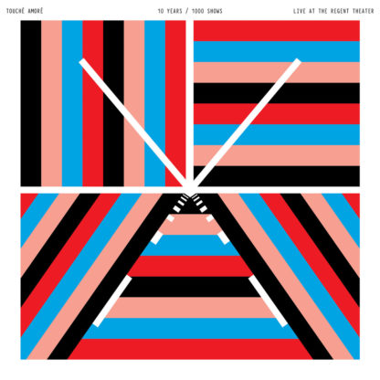 TOUCHE AMORE 10 Years/1000 Shows - Live At The Regent Theater - Vinyl 2xLP (red and blue)