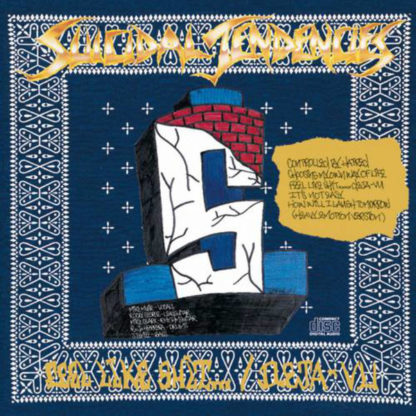 SUICIDAL TENDENCIES Controlled By Hatred / Feel Like Shit... Deja-Vu - Vinyl LP (blue and gold swirl)