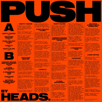 HEADS. Push - Vinyl LP (black)