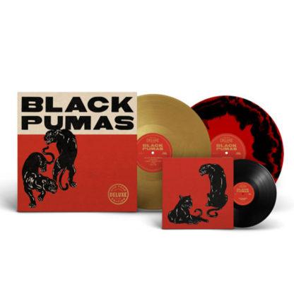 "BLACK PUMAS S/t (Super deluxe edition) - Vinyl 2xLP (gold / black red marble) + Vinyl 7"" (black)"