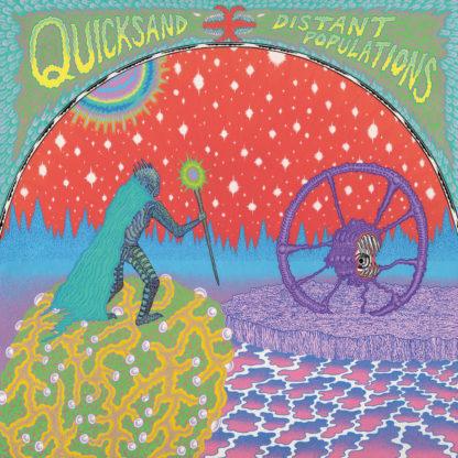 QUICKSAND Distant Populations - Vinyl LP (yellow with red splatter black)